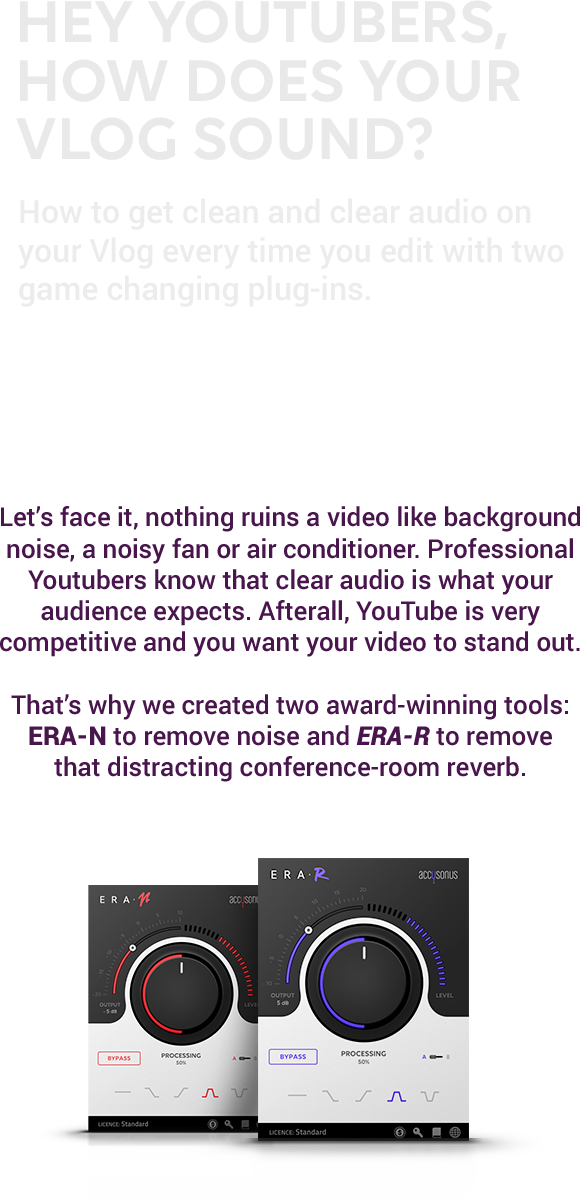 ERA Bundle Standard, Hey YouTubers, How Does Your Vlog Sound