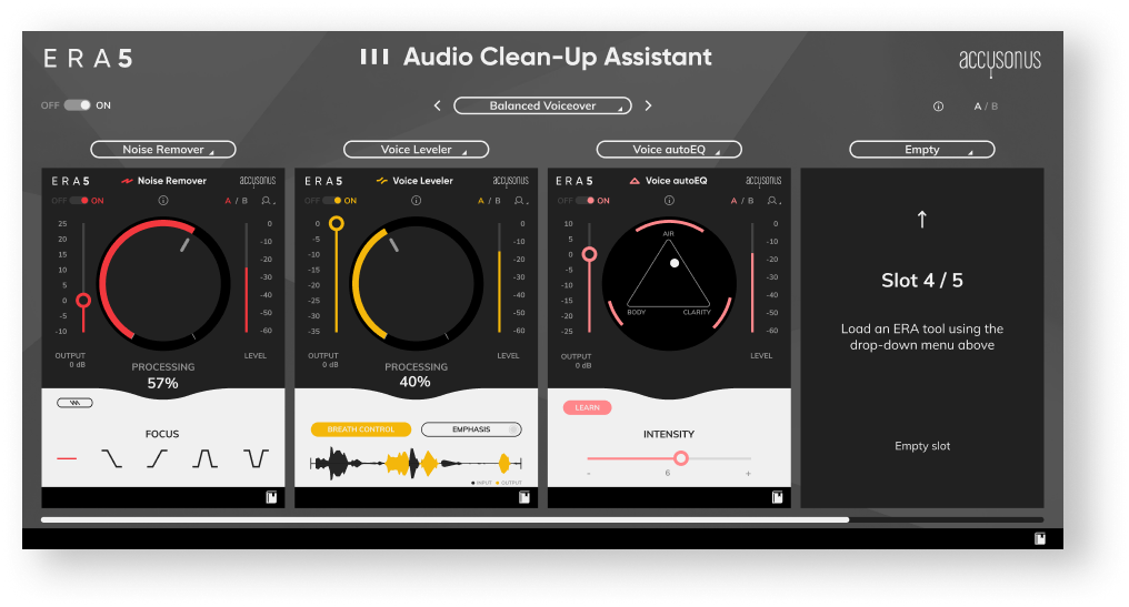 ERA Audio Clean Up, UI