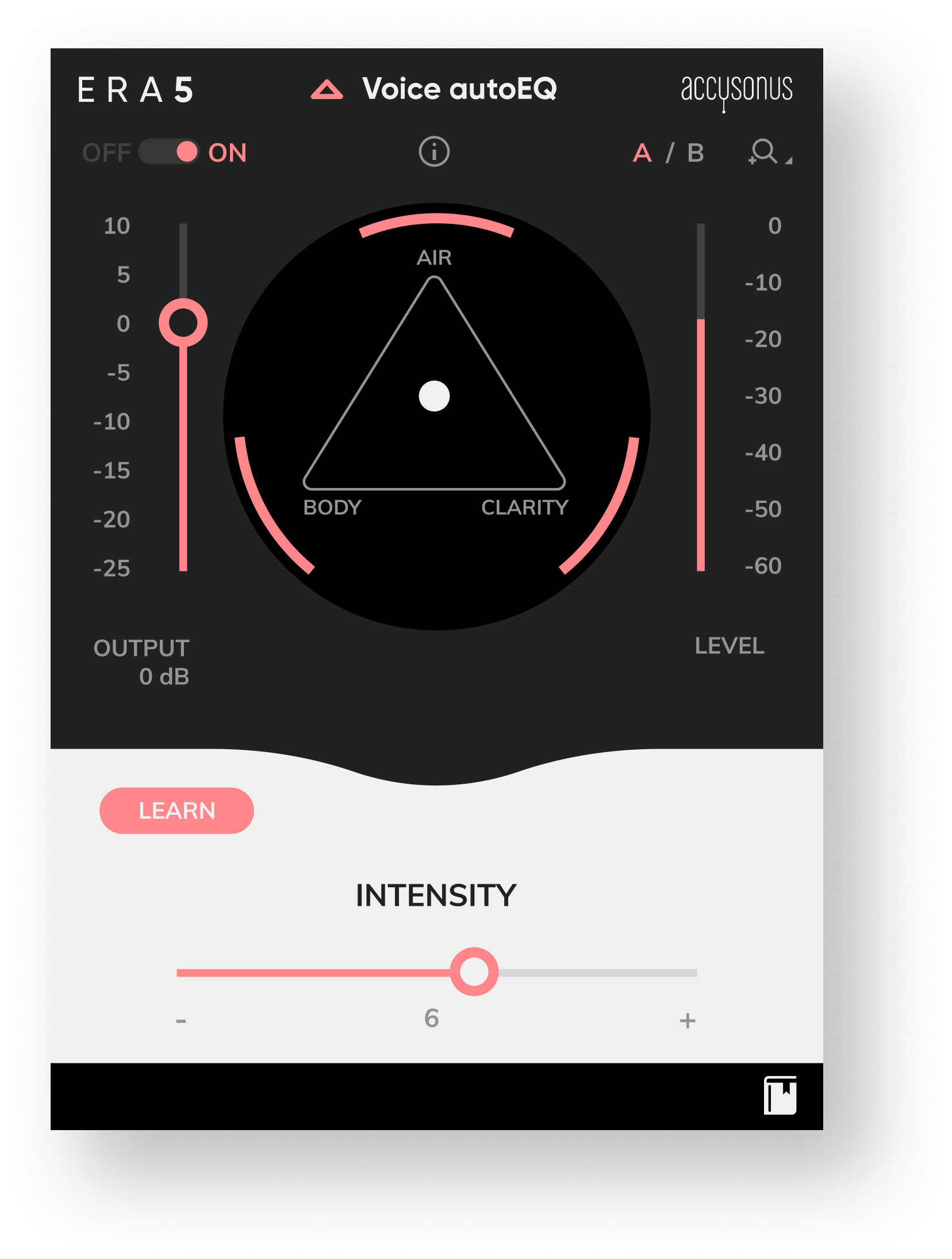 ERA Voice Auto EQ, UI